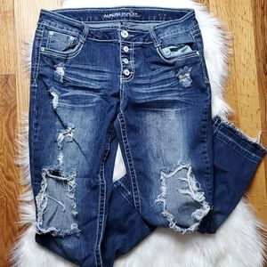 Almost Famous Rip Style Cropped Jean's